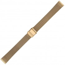 Yellow Metal Buckle Watch Strap 14mm Straight End