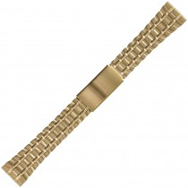 Yellow Metal Buckle Watch Strap 20mm Straight End