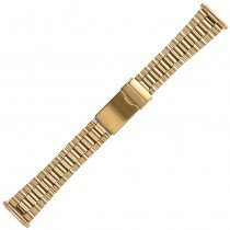 Yellow Metal Buckle Watch Strap 18mm-22mm Spring Ends