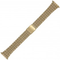 Yellow Metal Buckle Watch Strap 18mm-23mm Spring Ends