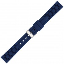 Navy Textured Silicone Watch Strap 16mm