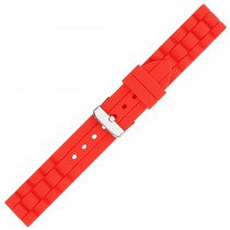 Red Textured Silicone Watch Strap 18mm