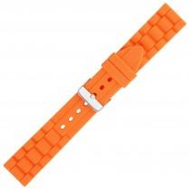 Orange Textured Silicone Watch Strap 22mm