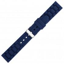 Navy Textured Silicone Watch Strap 20mm