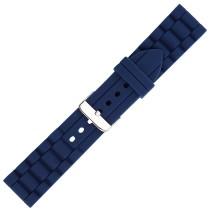 Navy Textured Silicone Watch Strap 24mm