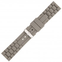 Grey Textured Silicone Watch Strap 24mm