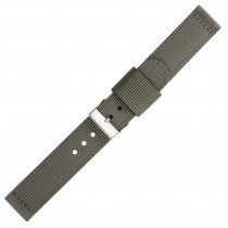 Grey Two Piece 18mm Nylon Watch Strap