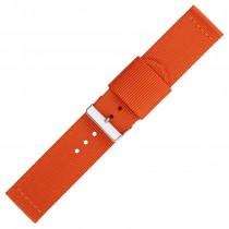 Orange Two Piece 22mm Nylon Watch Strap