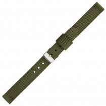 Olive Green Two Piece 12mm Nylon Watch Strap