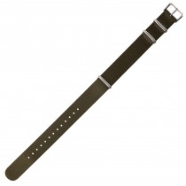 Olive Green 18mm Nylon Military Watch Strap With Three Rings