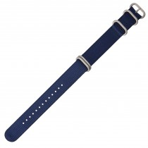 Navy 22mm Nylon Military Watch Strap With Four Rings