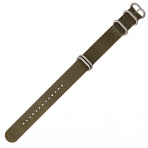 Olive Green 22mm Nylon Military Watch Strap With Four Rings