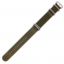 Olive Green 24mm Nylon Military Watch Strap With Four Rings