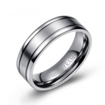 Dual Finish Titanium Band