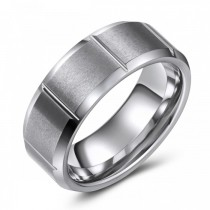 Visually Interesting Tungsten Wedding or Fashion Band - 8MM